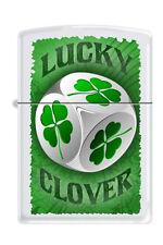 Zippo 3733 lucky 4 leaf clover dice RARE & DISCONTINUED Lighter