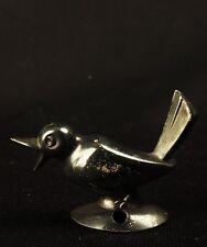 6559:Vogel Applike aus 835er Silber, deutsch, wohl 40er/50er Jahre.Patiniert.