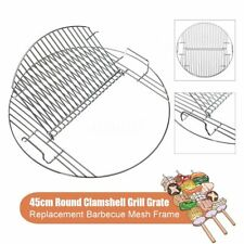 45cm Round Barbecue Net Charcoal Grill Grate Mesh Frame Lifted Stainless Us�