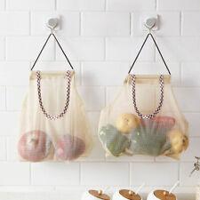 Storage Fruit Vegetable Drawstring Reusable Potato Netting Kitchen Mesh Bags