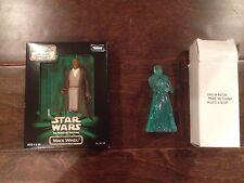 Star Wars Lot of 2 Mail-In Action Figures-Mace Windu, Holographic Obi-Wan Kenobi