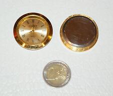 MECCANISMO OROLOGIO DA INCASSO COMPLETO mm.37 Dorato Gold plated Clock meccanism
