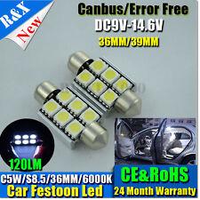 1xCar 5050 36mm 6SMD LED Canbus Bulb Light Interior Dome Festoon Lamp Bulb White