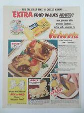 Vintage Australian advertising 1952 ad VELVEETA KRAFT CHEESE FOOD