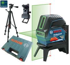 BOSCH GCL 2-15 G Baulaser Linienlaser mit Stativ BT150 im Koffer Laserfarbe:Grün