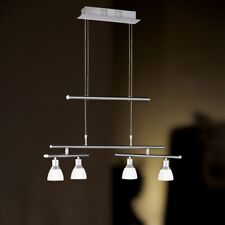 Wofi Lumière Pendante LED Talas 4 BRAS Nickel Verre Blanc Boom réglable 20 Watt