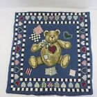 Vintage Country Bear Heart Tapestry Pillow Cover 15.5×16 Country Home Decor 80s