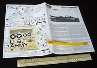 *Mid-1970s FROG Instructions & Decal (No Kit) Boeing B-17E Fortress USAAF (C272)