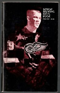 1968-69 DETROIT RED WINGS NHL MEDIA GUIDE YEARBOOK FACT BOOK GORDIE HOWE