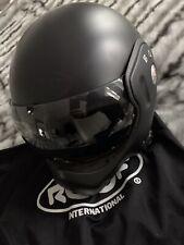 ROOF BOXER V8 MATT BLACK MOTORCYCLE HELMET FIGHTER PILOT FLIP - 60 L