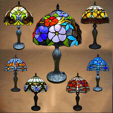 Tiffany Style Table Lamp Handcrafted Art Stained Glass Bedside Lamps Desk Light