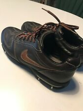 Nike Sport Performance Brown Leather Mens Golf Shoes Size 9.5 314908-221