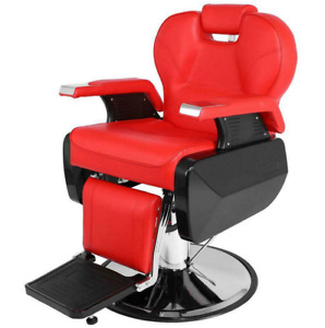Barber All Purpose Hydraulic Barber Chair Salon Spa Hair Styling Shampoo Red