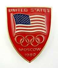 Rare 1980 Moscow Olympics USA NOC Boycotted Games Olympic Pin Badge