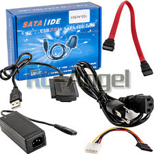 "USB 2.0 to SATA PATA IDE 2.5"" 3.5"" HDD SSD Hard Drive Adapter Transer Cable Kit"