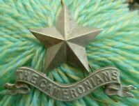 The Cameronians Scottish Rifles Regiment Pipers Glengarry Badge 3 Lugs ANTIQUE