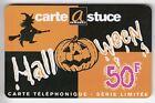 FRANCE TELECARTE / PHONECARD PREPAYEE .. 50F A.TELECOM HALLOWEEN SORCIERE +N°