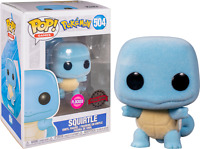 Squirtle Flocked Pokemon Funko Pop Vinyl New in Mint Box + Protector