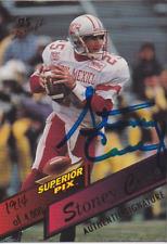 Stoney Case 1995 Superior Pix rookie RC autograph auto card 28 /4000