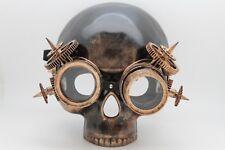New Men Half Face Costume Mask Skeleton Skull Steam Punk Robot Parts Halloween