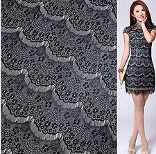 Lace Fabric Black Eyelash Soft Lace Wedding Fabric 59'' width 1 yard