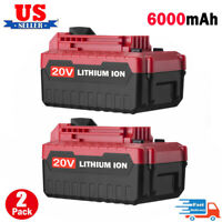2X 20V 6.0Ah MAX 20 Volt PCC685L Battery For PORTER CABLE PCC680L PCC682L Li-ion