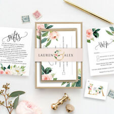Personalised Wedding Stationery Day Evening Invitations RSVP Gift Cards Floral