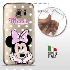Samsung Galaxy S6 TPU CASE COVER PROTETTIVA GEL TRASPARENTE Disney Minnie Mouse