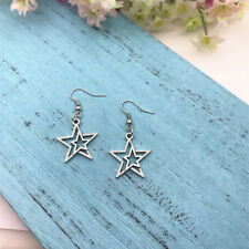 Star , Handmade Jewelry Dangling Earrings Star , Celestial Earrings , Shooting