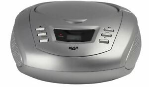 Bush CD Radio Boombox - Silver FM/AM Radio Player