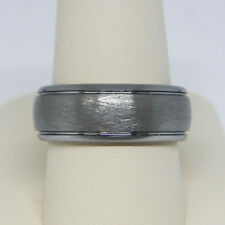 TRITON MEN'S 8.0MM COMFORT FIT TUNGSTEN CARBIDE WEDDING BAND RING