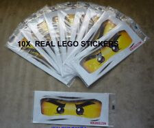 10 x Real Lego Ninjago Eyes Stickers Party Decorations Balloons loot Bags Plates