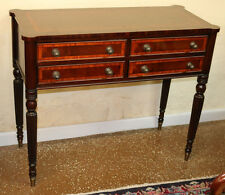 Gorgeous Sheraton Style Banded Satinwood Mahogany Console Sideboard Server Table