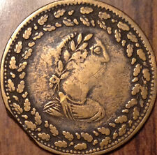 1812 LOWER CANADA HALF PENNY TOKEN TIFFIN A REMARKABLE EXAMPLE CLIPPED PLANCHET
