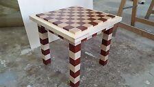 Tavolino Dama / scacchiera in legno padouk e frassino