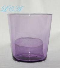Small 1800's antique Saloon WHISKEY SHOT GLASS sun color purple Gt Falls MONTANA