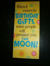 "Hallmark Birthday Card ""When It Comes To Birthday Gifts, Some People."" #32"