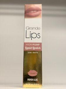 Grande Lips Hydra plump Liquid Lipstick Lip Plumper FRENCH LILAC FULL SIZE RV$27