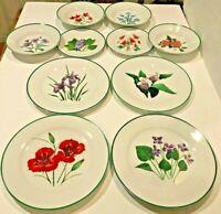 NATIONAL WILDLlFE FEDERATION NEW American Wildflower Dinnerware Set 10 Piece
