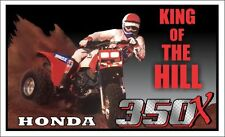 "36"" X 60"" PRINTED HONDA ATC 350X KING OF THE HILL BANNER - 3 WHEELER, BIKE, ATV"