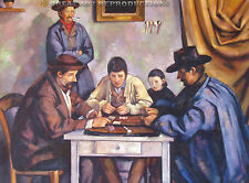 """Card Players"", Paul Cezanne, Reproduction in Oil, 48""x36"""