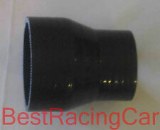 "2.75"" to 2"" Silicone Coupler Reducer Silicon Turbo, Black"