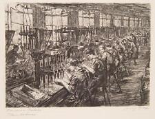 Franz Graf Siemens Halske Berlin Arbeiter Industrie Werkbank Fabrik Bohrer 1924