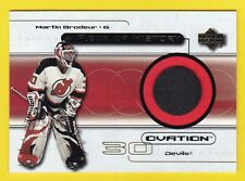 1999-00 Ovation MARTIN BRODEUR GAME USED PUCK Devils