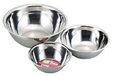 Japanese Stainless Steel Cooking Mixing Bowl 3cs Set 15/18/24cm KR-8274