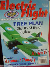 ELECTRIC FLIGHT MODEL AIRCRAFT MAY JUNE 1996 HORTEN VC REVIEW AERONAUT PANAFLY