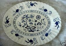 """Classic J.&G. MEAKIN Cobalt Blue Nordic Pattern 15"""" Oval Platter-Made in England"""