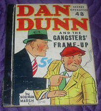 DAN DUNN SPECIAL OPERATIVE 48  GANGSTERS' FRAME-UP WHITMAN 1010  1937  MARSH