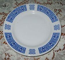 "Restaurant Ware Buffalo China 9.75"" Plate Blue White Tien Hu Oriental Flower"