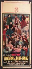 Locandina PECCATORI IN BLUE JEANS 1958 RARA! PETIT PARISY CHARRIER TERZIEFF MGM